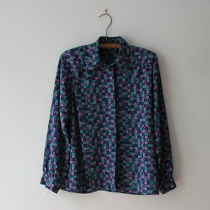 Geometrical Purple Blouse